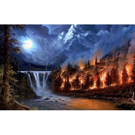 Forest Fire - Paint by Diamonds