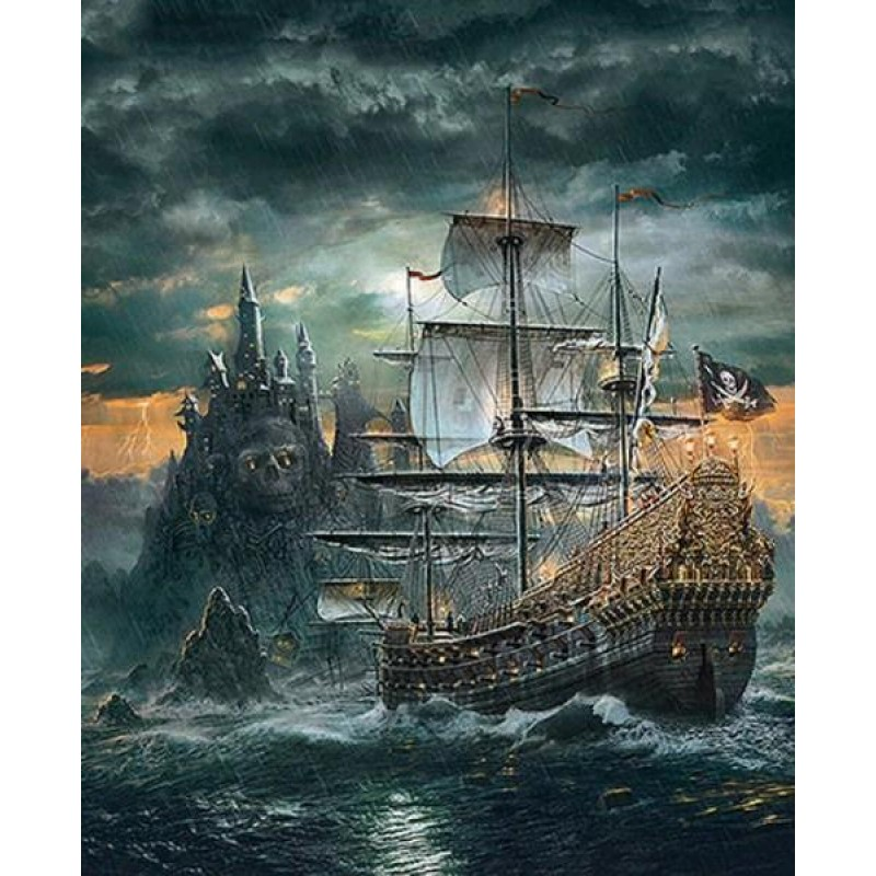 Pirates Ship - Paint by D...