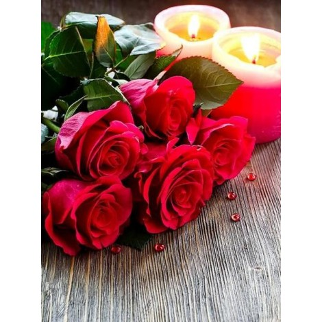 Candles & Roses Painting Kit
