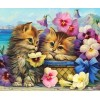 Cats & Colorful Flowers