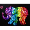 Elephant Art Stained Glass Diamond Painting