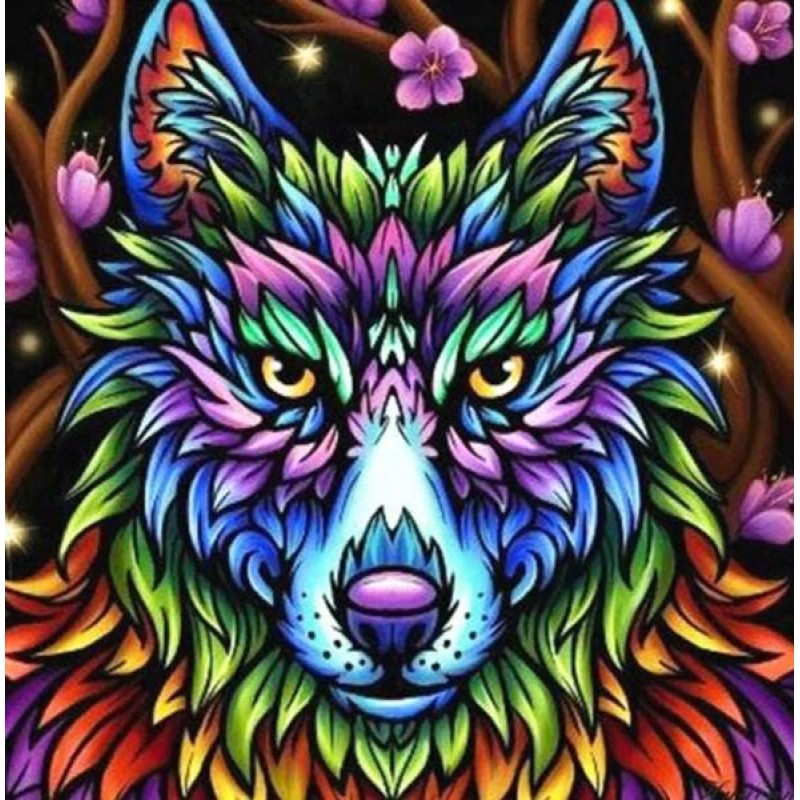 Colorful Wolf - Pain...