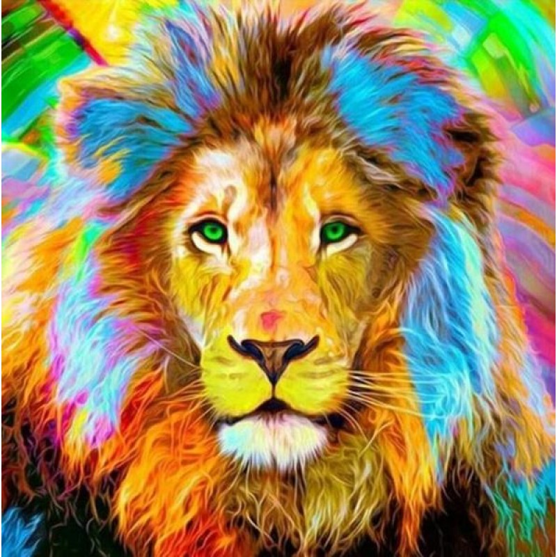 Big Lion with Colorf...