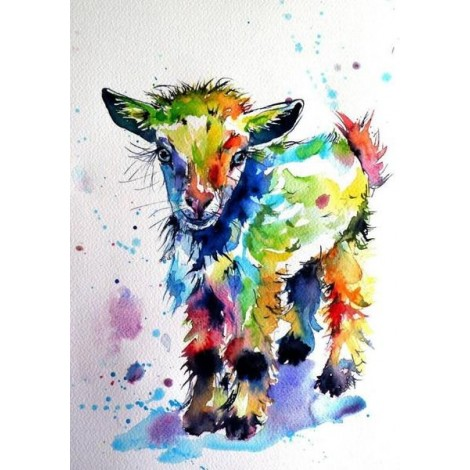 Colorful Artistic Goat
