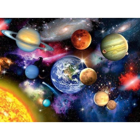 Galaxy & Planets Painting