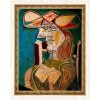 Seated Woman on Wooden Chair - Pablo Picasso