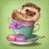 Baby Hedgehog in a Cup
