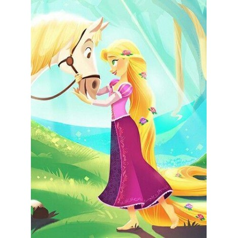 Rapunzel with her Horse Diamond Painting Kit