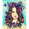 Butterflies on her Mind - Paint by Diamonds